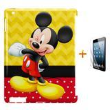 Kit Capa Case TPU iPad 2/3/4 Mickey + Película de Vidro (BD01) - Skin t18