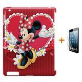 Kit Capa Case TPU iPad 2/3/4 Minnie + Película de Vidro (BD01) - Skin t18