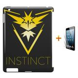 Kit Capa Case TPU iPad 2/3/4 Pokemon Instinct Team + Película de Vidro (BD01) - Skin t18