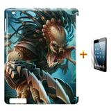 Kit Capa Case TPU iPad 2/3/4 Predador + Película de Vidro (BD01) - Skin t18