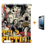 Kit Capa Case TPU iPad 2/3/4 Pulp Fiction + Película de Vidro (BD01) - Skin t18