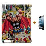 Kit Capa Case TPU iPad 2/3/4 Thor (Avengers) + Película de Vidro (BD01) - Skin t18