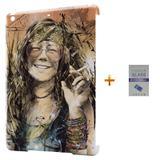 Kit Capa Case TPU iPad Air 2 (iPad 6) Janis Joplin + Película de Vidro  (BD01) - Skin t18