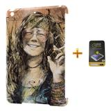 Kit Capa Case TPU iPad Mini 2/3 Janis Joplin + Película de Vidro (BD01) - Bd cases