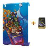 Kit Capa Case TPU iPad Mini 2/3 Mario Bros e DK + Película de Vidro (BD01) - Bd cases