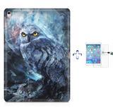 "Kit Capa Case TPU iPad Pro 9,7"" - Coruja + Película de Vidro (BD01) - Skin t18"