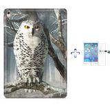 "Kit Capa Case TPU iPad Pro 9,7"" - Coruja + Película de Vidro (BD02) - Skin t18"