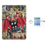 "Kit Capa Case TPU iPad Pro 9,7"" - Thor The Avengers + Película de Vidro (BD01) - Bd cases"