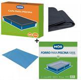 Kit Capa + Forro Para Piscina De 1000 Litros Mor