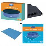 Kit Capa + Forro Para Piscina De 2400 Litros Mor