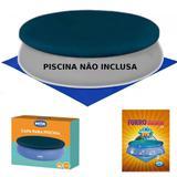Kit Capa + Forro para Piscina Redonda Inflavel 2400 L 2.60m de Diametro  Mor