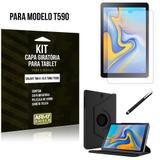 Kit Capa Giratória Galaxy Tab A 10.5 T590/T595 Capa Giratória + Película de Vidro + Caneta Touch - Armyshield