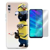 Kit Capa Huawei Honor 8X Minions e Pelicula - Bd cases