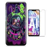 Kit Capa Huawei Mate 20 Lite Rick Morty e Pelicula - Bd cases