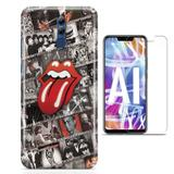 Kit Capa Huawei Mate 20 Lite Rolling Stones e Pelicula - Bd cases