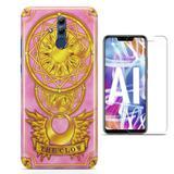 Kit Capa Huawei Mate 20 Lite Sakura Card Captors e Pelicula - Bd cases