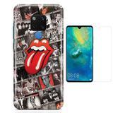 Kit Capa Huawei Mate 20 Rolling Stones e Película - Bd cases