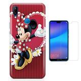 Kit Capa Huawei P20 Lite Minnie e Película - Bd cases