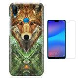 Kit Capa Huawei P20 Lite Wolf e Película - Bd cases
