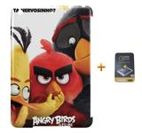 Kit Capa iPad Mini 2/3 Angry Birds +Pel.Vidro BD1 - Bd cases