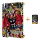 Kit Capa iPad Mini 2/3 Thor - Marvel +Pel.Vidro BD1 - Bd cases