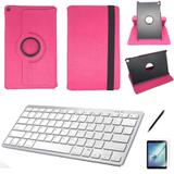 Kit Capa/Teclado branco /Can/Pel Galaxy Tab A T510/T515 10.1 Rosa - Bd cases