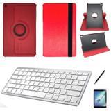 Kit Capa/Teclado branco /Can/Pel Galaxy Tab A T510/T515 10.1 Verm - Bd cases