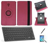 """Kit Capa/Teclado/Can/Pel Galaxy Tab A T380/T385 8"""" Rosa - Bd cases"""