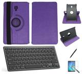 "Kit Capa/Teclado/Can/Pel Galaxy Tab A T380/T385 8"" Roxo - Bd cases"