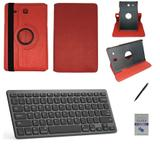 "Kit Capa/Teclado/Can/Pel Galaxy Tab E T560/T561 9.6"" Verm - Bd cases"