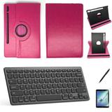 Kit Capa/Teclado/Can/Pel Galaxy Tab S6 T860/T865 10.5 Rosa - Bd cases