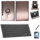 Kit Capa/Teclado/Can/Pel Galaxy Tab S6 T860/T865 10.5 Rose - Bd cases
