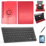 Kit Capa/Teclado/Can/Pel Galaxy Tab S6 T860/T865 10.5 Vermelho - Bd cases