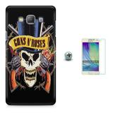 Kit Capa TPU A5 (A500) Guns nRoses + Pel.Vidro (01) - Bd cases