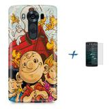 Kit Capa TPU LG K10 2017 Charlie Brown Snoopy + Pel Vidro (BD01) - Bd cases