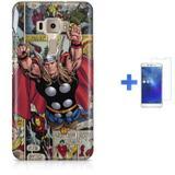 Kit Capa TPU Zenfone 3 ZE552KL Thor Vingadores Avengers + Pel Vidro (BD01) - Bd cases