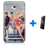 Kit Capa TPU Zenfone GO ZB500KL Hollywood Marilyn Monroe James Dean Elvis Presley + Pel Vidro (BD01) - Bd cases