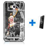 Kit Capa TPU Zenfone GO ZB500KL Michael Jordan 23 Basquete + Pel Vidro (BD01) - Bd cases