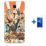 Kit Capa TPU Zenfone Max ZC520TL Street Fighter + Pel Vidro (BD01) - Bd cases