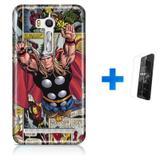 Kit Capa  Zenfone GO ZB500KL Thor Vingadores + Pel  (BD01) - Bd cases