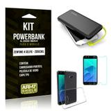 Kit Carregador Portátil 5K Zenfone 4 Selfie Powerbank 5000mah + Capa + Película Vidro - Armyshield