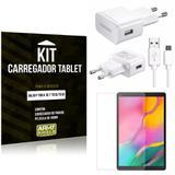 Kit Carregador Tipo C Samsung Galaxy Tab A 10.1' T515/T510 + Película de Vidro - Armyshield