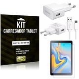 Kit Carregador Tipo C Samsung Galaxy Tab A 10.5' T590/T595 + Película de Vidro - Armyshield
