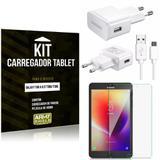 Kit Carregador Tipo C Samsung Galaxy Tab A 8.0' T380/T385 + Película de Vidro - Armyshield