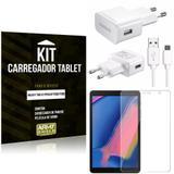 Kit Carregador Tipo C Samsung Galaxy Tab A S Pen 8.0' P205/P200 + Película de Vidro - Armyshield