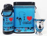 Kit chimarrão térmica, mateira e cuia - i love cats - Mix atacadista