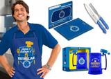 Kit Churrasco Cruzeiro Tabua Carne + Kit Corte + Caneca Gel - Brasfoot