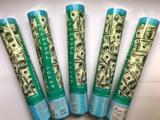Kit chuva de dinheiro 5 lança confete dólar - Vmp