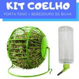 Kit Coelho com Bebedouro e Porta Feno Pawise