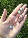 Kit colar + brinco mini coração - Mania de mulher